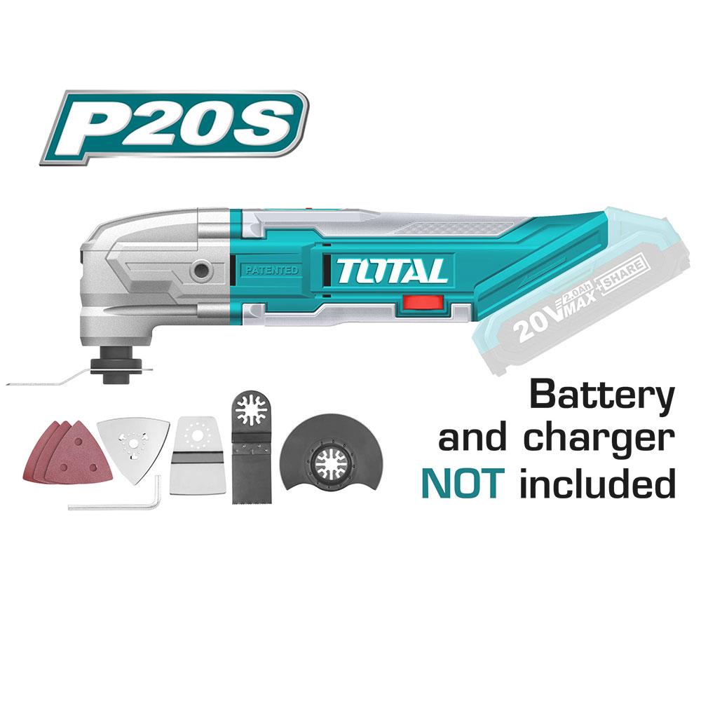 جهاز متعدد الاستخدامات ترددى شحن 20 فولت بدون بطاريه و شاحن