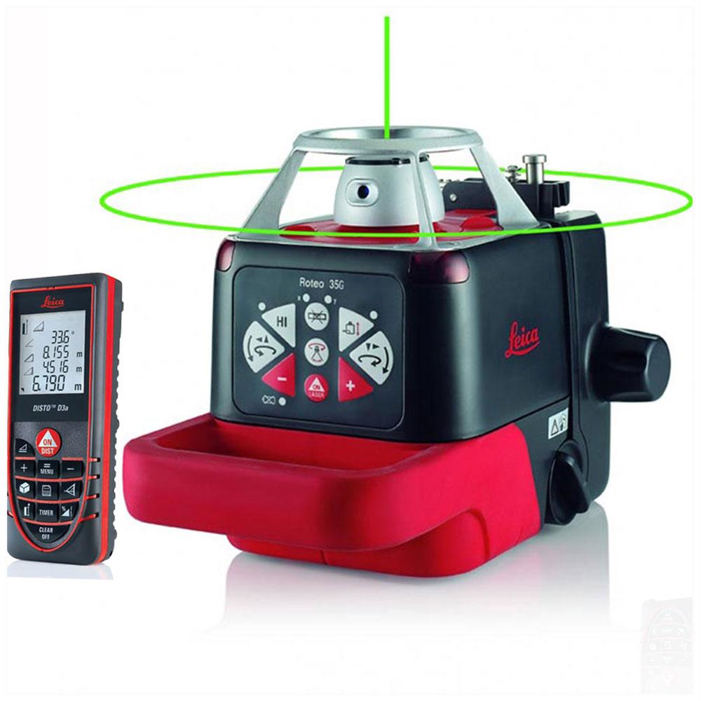 جهاز تحديد مستوى دوار300متر+متر ليزر مدى 100م